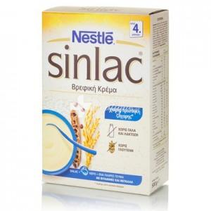 Nestle Βρεφική Κρέμα Sinlac (4m+), 500gr χωρίς γάλα, σόγια, γλουτένη, λακτόζη