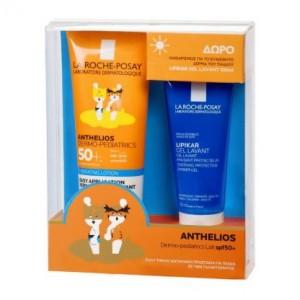 La Roche Posay Anthelios Dermo-Pediatrics Lait SPF50+ Γαλάκτωμα πολύ υψηλής αντηλιακής προστασίας για Παιδιά, 250ml & ΔΩΡΟ Lipikar Gel Lavant , 100ml