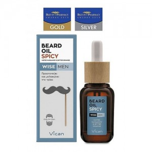 Vican Wise Men Beard Oil Spicy Λάδι για τη γενειάδα του άνδρα, 30ml