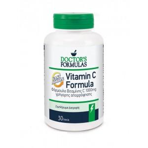 Doctor's Formula Vitamin C Formula Fast Action Συμπλήρωμα Διατροφής Βιταμίνης C 1000mg Γρήγορης Απορρόφησης, 30 δισκία