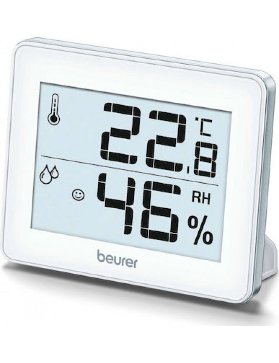 Beurer ΗΜ 16 Θερμόμετρo & Υγρασιόμετρo Επιτραπέζιο για Χρήση σε Εσωτερικό Χώρο