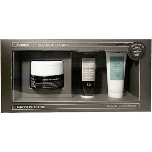 Korres Promo Pack Μαύρη Πεύκη για Ανόρθωση & Σύσφιγξη με Black Pine 3D Sculpting Firming & Lifting Day Cream, 40ml & ΔΩΡΟ Black Pine Night Cream, 16ml & Olympus Tea Cleansing Foaming Cream, 16ml - Ξηρές/Πολύ Ξηρές Επιδερμίδες