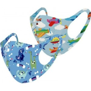 ΠΝΟΗ Πακέτο 2τμχ. Παιδικη Υφασμάτινη Προστατευτική Μάσκα πολλαπλών χρήσεων Aγορια 6-12 Ετων