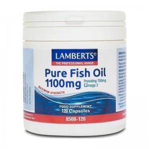 Lamberts Pure Fish Oil 1100mg (Epa) 120caps (Ω3) New Higher Strength